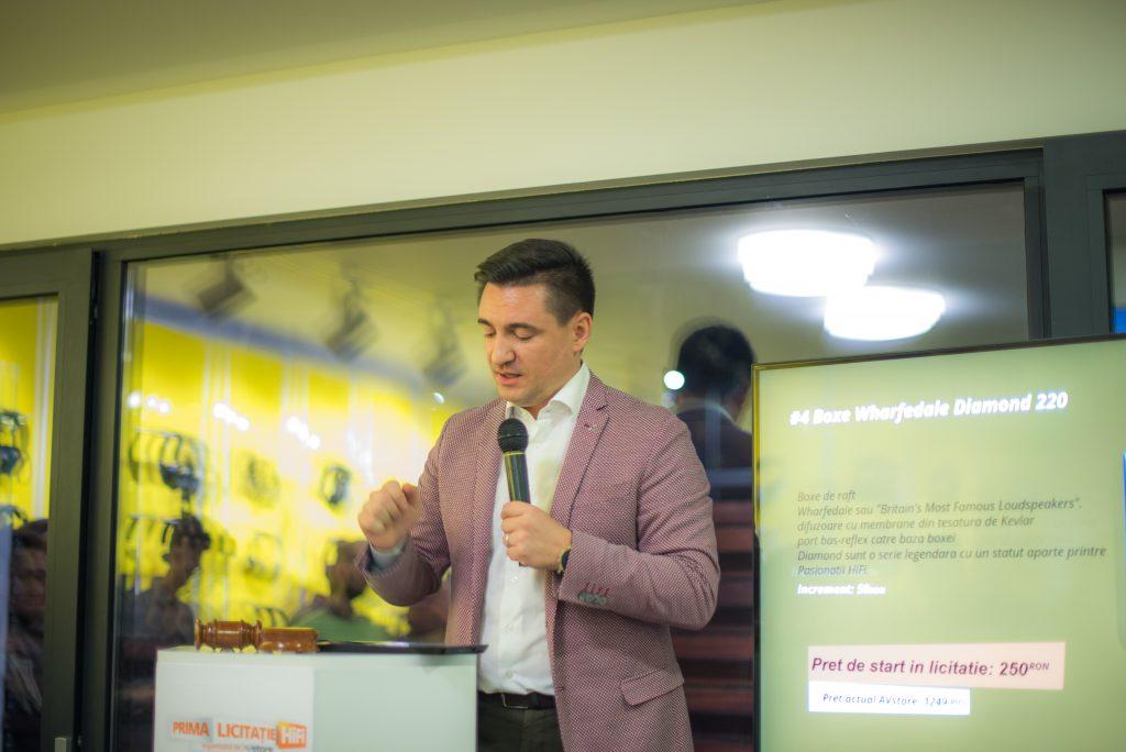 George Buhnici a fost prezentatorul Primei Licitatii HiFi