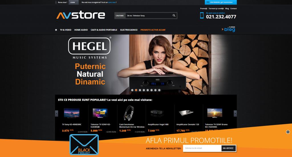 Inscrie-te pentru newsletter-ul de Black Friday AVstore.ro