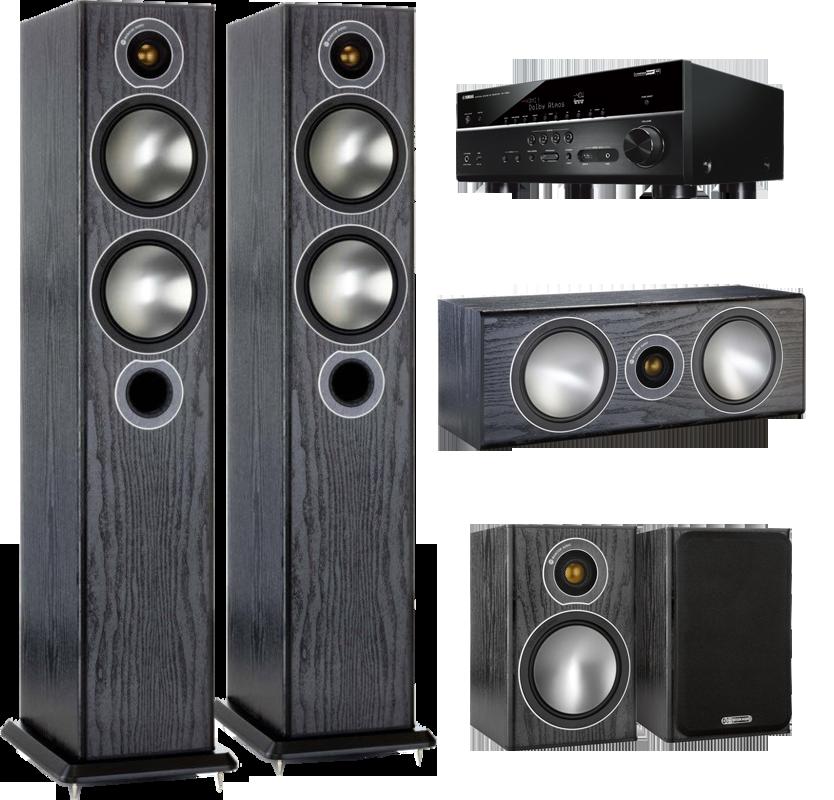 Monitor Audio Bronze 5 pachet 5.0 + Yamaha RX-V683