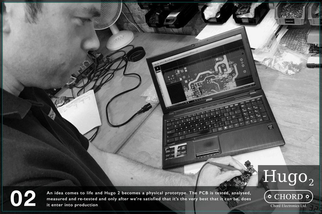 Astfel se naste o idee, iar Hugo 2 devine un prototip fizic. Placile imprimate sunt testate analizate si apoi testate din nou si numai atunci cand suntem multumiti si siguri ca sunt la capacitatea maxima la care pot fi, doar atunci se intra in productie cu ele.