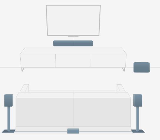Bluesound - setup surround Soundbar Pulse -Pulse Flex